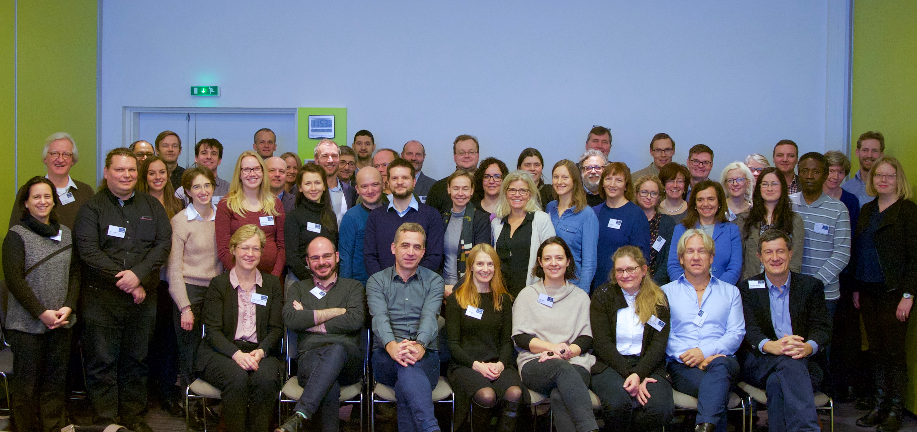 Group photo of all multipleMS partners teams at the Paris kickoff meeting
